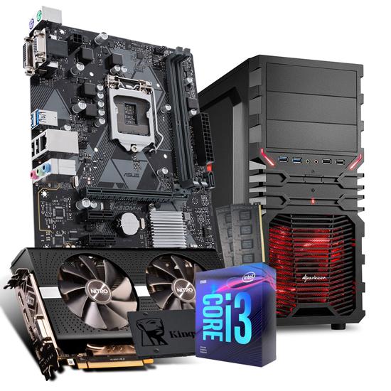 Picture of GNC GAMER ULTRA I3-9100F, H310M, NITRO+ RADEON RX 580 4G,G.SKILL 16GB (2X8GB) DDR4 2400MHZ,480GB, 500W, VG4-W red ATX, NO OS, 24 mj.
