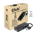 Picture of USB hub + ethernet Club 3D USB TYPE A 3.1 GEN 1 TO 3 X USB TYPE A 3.0 WITH GIGABIT ETHERNET RJ45 CSV-1430