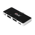 Picture of Mini docking station Club 3D USB TYPE C 3.1 GEN 1 TO HDMI 2.0B + 1 USB 2.0 TYPE A + USB C CHARGE UP TO 100W + 1 COMBO AUDIO JACK FEMALE CSV-1591