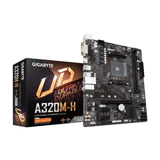 Picture of MB GIGABYTE  GA-A320M-H 2.0 AMD A320;AM4;2xDDR4 DVI,HDMI;RAID;micro ATX