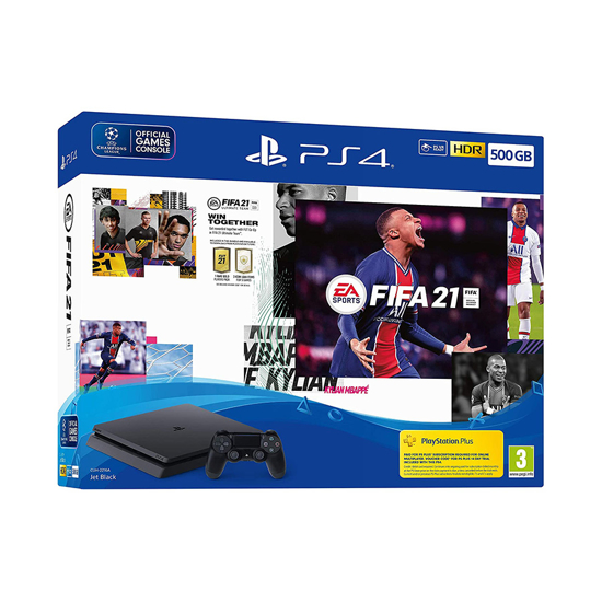 Picture of Sony Playstation PS4 konzola 500GB Slim Black Chassis + Fifa 21 VC