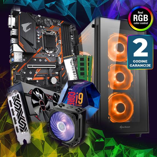 Picture of GNC RAČUNAR GAMER  I9-9900K 3.60GHz, CM Hyper 212s RGB, RX VEGA 56, MB B365 M AORUS ELITE,  M.2 250GB KC2500, DDR4 16GB(2X8) 2666MHz,TG5,RGB 550W24mj
