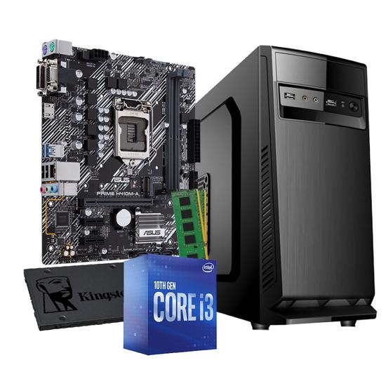 Picture of GNC i3 Core i3-10100 Processor 3.60GHz, H410M, 8GB 2666MHz DDR4, SSD 240 GB, 500 W, 24mj.