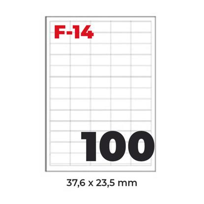 Slika od NALJEPNICA 37,6x23,5 FORNAX F-14 ,100/1