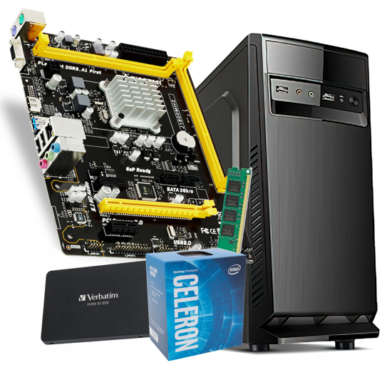 Picture of GNC OFFICE  Intel Celeron J1800 +MB BIOSTAR, 4GB DDR3L-1600, SSD 120GB, 500w IG-MAX 1607 24 mj.