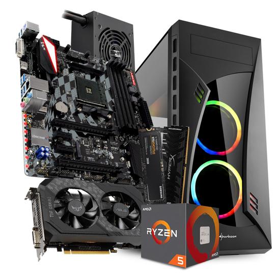 Picture of GNC GAMER AMD Ryzen 5 1600 6x3.20Ghz, BIOSTAR AMD X470, TUF-GTX1650, Kingston DDR4 16GB 3000MHzHyperX Predator, Samsung SSD 970 EVO Plus M.2250GB