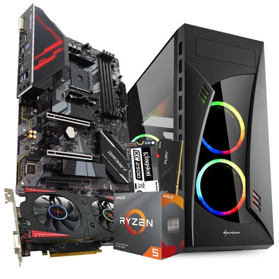 Picture of GNC GAMER Ryzen 5 3600 4,2 GHz, 32 MB, Kingston DDR4 16GB 3200MHz RGB, RX 560 4 GB, M.2up to 3,500 MB/s,MB BIOSTAR B550, NIGHT SHARK RGB ATX, 550 W