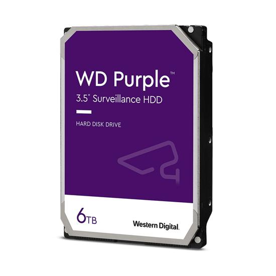 Picture of HDD 6 TB, WD62PURZ SATA-6Gb, IntelliPower rpm, 64 MB PURPLE