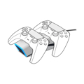 Picture of SPEEDLINK TWINDOCK punjač za dva PS5 game pad-a, white, SL-460000-WE