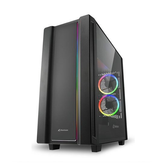 Picture of Kućište SHARKOON gaming, rev220, RGB, ATX, ventilator 5x120 mm