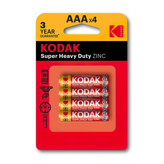Picture of Baterija KODAK,RO3 AAA CINK KLORID 4/1, 1,5 V (887930953329)