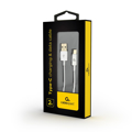 Picture of USB 2.0 kabl Type-C charging and data cable, 2m, white, GEMBIRD CC-USB2P-AMCM-2M-W