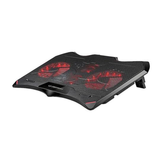 Picture of Postolje za notebook gaming ESPERANZA BURAN, LED illuminated, 4x ventilator, EGC102