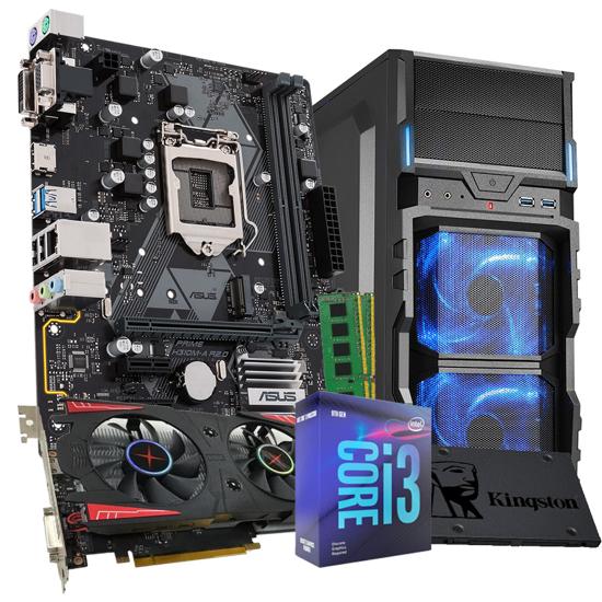 Picture of GNC GAMER I3-9100F 3.60GHz 9MB, H310M-R R2.0 , SSD 256GB, RAM memorija 16 GB(8X2) DDR4, BIOSTAR RX560 4GB GDDR5 128 bit, VG5, LC 600W