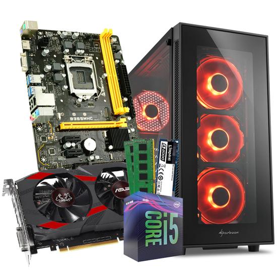 Picture of GNC GAMER HAWK- i5-9400 Processor 2.90GHz 9MB,MB B365, GeForce GTX 1050 TI 4GB, RAM 16 GB 2666 MHz, M.2 250 GB, TG5 Full Glass Red ATX, 650W