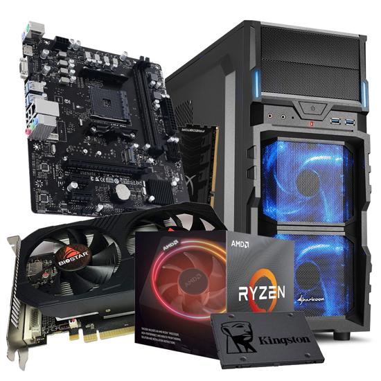 Picture of GNC GAMER MEGA- AMD Ryzen 7 3800X 3.9GHz 32MB L3,105W, MB 550, RAM 16GB 3200MHz, SSD 480 GB, RX560, VG5