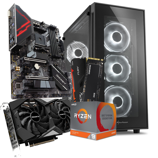 Picture of GNC GAMER AMD Ryzen 9 3900X AM4 BOX 12 cores,24 T MB B550, Kingston DDR4 16GB 3200MHz HFB RGB, SSD 970 EVO Plus 250GB,GeForce RTX2060, TG5, 650W
