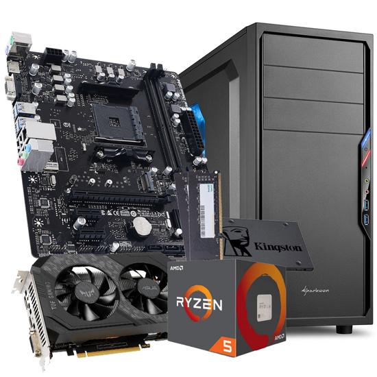 Picture of GNC GAMER TERA- Ryzen 5 1600 6x3.20Ghz, MB A520, RAM 16 GB DDR4 2666MHz, SSD 480GB, GTX 1650 GDDR6 4GB, SHARKOON gaming, VS4-W, 600W