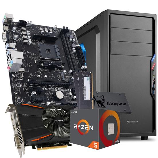 Picture of GNC GAMER GIGA- Ryzen 5 1600 6x3.20Ghz, MB A520, RAM 16 GB DDR4 3200MHz, SSD 480GB, GTX 1050 TI 4GB, SHARKOON gaming, VS4-W, 600W