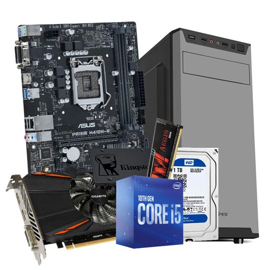 Picture of GNC GAMER - i5-10400 Processor 2.90GHz, MB H410, G.SKILL (1X8GB) DDR4 2400MHZ, SSD 240GB, 1TB HDD, GTX 1050 Ti 4GB, 550 W Sarkoon, 24 mj