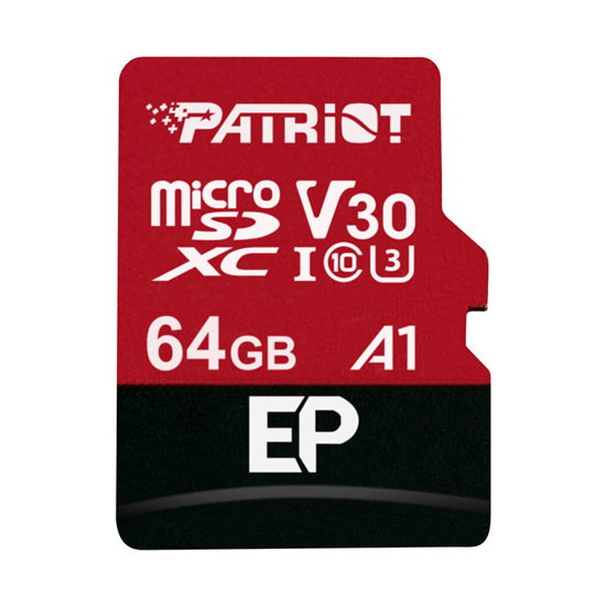 Picture of MICRO SD PATRIOT 64GB A1/V30, 4K Video Rec. PEF64GEP31MCX EP