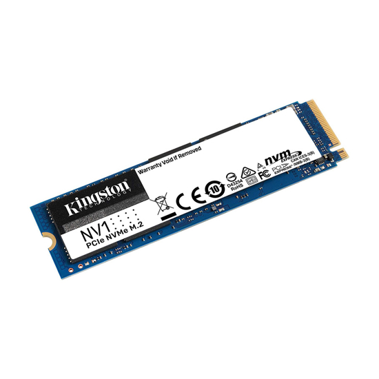 Picture of Kingston SSD 1TB M.2 2280 NVMe PCIe SNVS/1000G PCIe Gen 3.0x4 2,100/1,700MB/s,