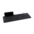 Picture of Tastatura GEMBIRD sa  postoljem za mobitel, KB-UM-108, Multimedia, US-layout