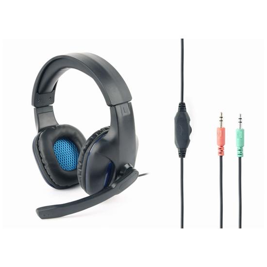 Picture of Slušalice sa mikrofonom GEMBIRD gaming, volume control, matte black, GHS-04