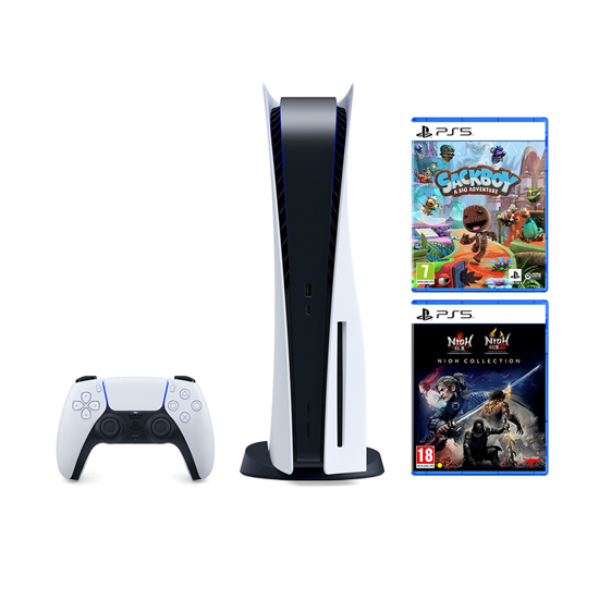 Picture of PlayStation 5 + Sackboy A Big Adventure! PS5 + The Nioh Collection PS5