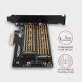 Picture of Kontroler PCI-Express CON PCIe 3.0x4 to Dual M.2 (NVMe + SATA), LP, PCEM2-D, AXA