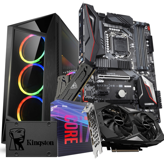 Picture of GNC GAMER WARZONE- i7-9700 3.0GHz 12MB, MB Z390 M, RAM 16 GB, GEFORCE 2060 6 G, SSD 480 GB, NO OS, 24Y