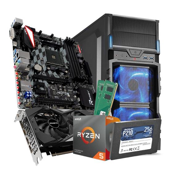 Picture of GNC GAMER CYBORG SLAYER-Ryzen 5 3500X 3.6GHz, MB X470GTQ, GeForce RTX™ 2060 D6 6G, DDR4 16 GB 2666 MHz, SSD  256GB, SHARKOON  550 W ATX, VG5-V, NO OS