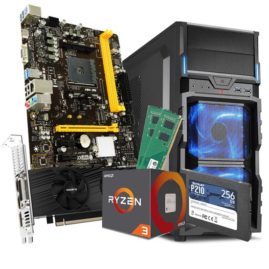 Picture of GNC GAMER PRIME Ryzen 3 1200 3.1GHz,8MB L3,65W, MB BIOSTAR AMD B450, RAM DDR4 16(2X8)GB 2666MHz, SSD 256GB,GTX 1650 4GB GDDR6, Kućište SHARKOON VG5-V