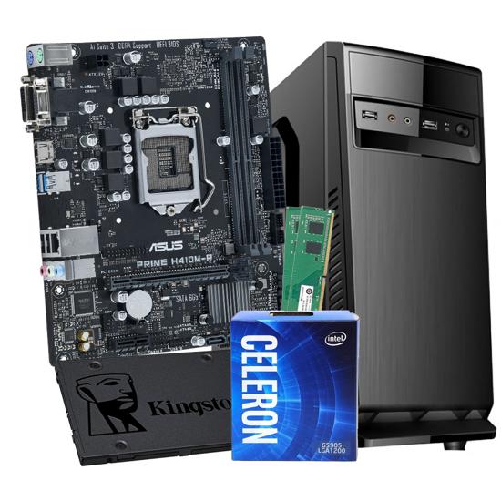 Picture of GNC OFFICE G5905 3.5GHz 4MB,  ASUS H410M-R-SI, RAM DDR4 8GB 2666MHz, SSD Kingston 240GB A400, Kućište sa napajanjem 500w IG-MAX 1607 black, NO OS, 24