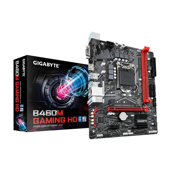 Picture of GIGABYTE MB B460M GAMING HD Intel B460;LGA1200;2xDDR4 VGA,HDMI,RAID;micro ATX