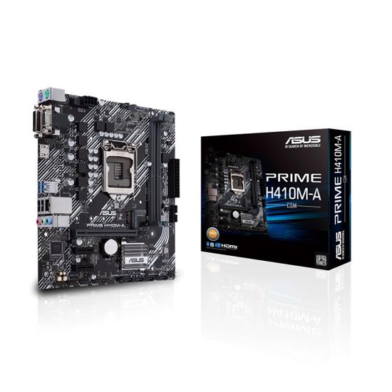 Picture of ASUS MB PRIME H410M-A/CSM Intel H410;LGA 1200 2xDDR4;VGA,DVI,HDMI;micro ATX