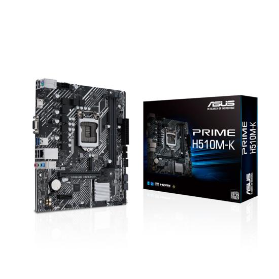 Picture of ASUS MB PRIME H510M-K LGA1200, H510 M.2.,2xDDR4,D-Sub,HDMI;ATX