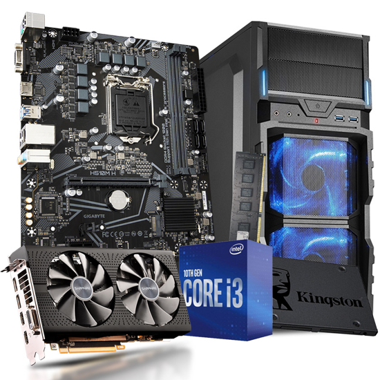 Picture of GNC GAMER i3-10100F Processor 3.60GHz, MB H510M, RAM G.SKILL 16GB DDR4 2400MHZ , SSD 240GB, RADEON RX 580 8G,  VG5-V, 550 W, 2Y, NO OS