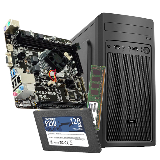 Picture of GNC OFFICE AMD PRO A4 3350B - MB BIOSTAR A68N-5600E, RAM 8 GB DDR3 1333 MHz, SSD 128 GB, Kućište sa napajanjem 500w, 2Y, NO OS