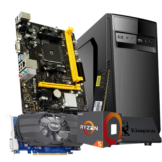 Picture of GNC OFFICE Ryzen 5 1600 6x3.20Ghz-3.60GHz, MB BIOSTAR AMD A320, PATRIOT RAM DDR4 8GB 2666MHz, SSD 240GB, GT1030 nVidia GeForce 2GB, 500w IG-MAX 1607