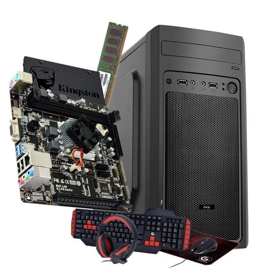 Picture of GNC OFFICE AMD PRO A4 3350B - MB BIOSTAR A68N-5600E, RAM 8 GB DDR3 1333 MHz, SSD 240 GB, Kućište + 500w, Tastatura + miš + slušal+podloga, 2Y, NO OS