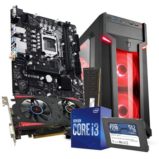 Picture of  GNC GAMER - i3-10100F Processor 3.60GHz, MB H510MH/E 2.0, RAM 12 GB 2400 MHz, SSD 512 GB PATRIOT, GPU BIOSTRAR RX 560 4GB, VG6-W red, LC-POWER 500 W