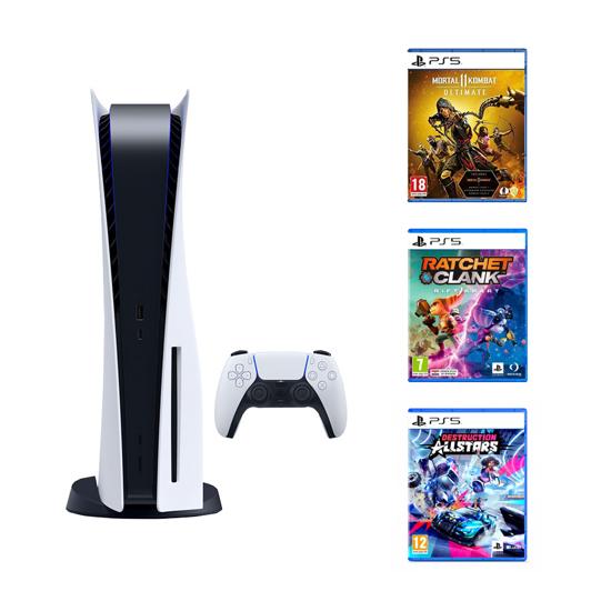 Picture of PlayStation 5 +  Mortal Kombat 11 Ultimate PS5 + Ratchet Rift Apart PS5 + Destruction