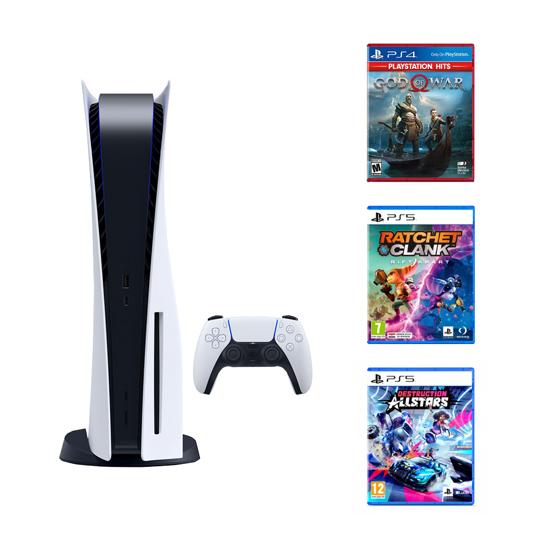 Picture of PlayStation 5 +  God of War HITS + Ratchet Rift Apart PS5 + Destruction