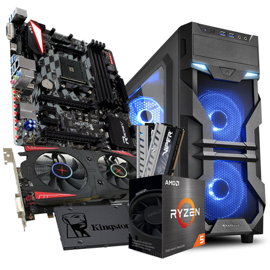 Picture of GNC GAMER Ryzen 5 5600X 3.7GHz,32MB, MB X470GTQ, RAM  DDR4 16GB 2666 MHz, RX560 4GB GDDR5, SSD 480GB, VG7-W, 550 W, 2Y, NO OS