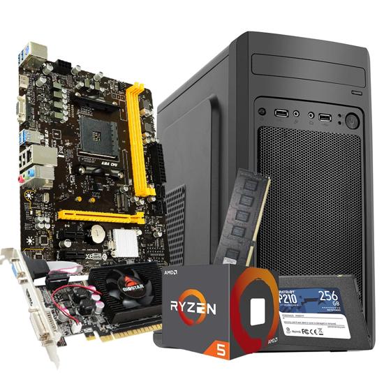 Picture of GNC OFFICE Ryzen 5 1600 6x3.20Ghz-3.60GHz, MB B450, RAM 8GB DDR4 2400MHZ, GPU GT610-2GB, SSD 256GB, MSI FROST II,EZ COOL 500 W, 2Y, NO OS