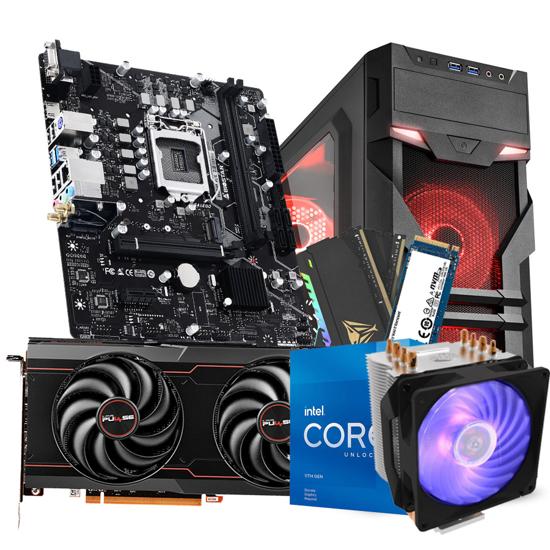 Picture of GNC GAMER SLAYER i5-11600K4.9GHz, CM H410R RGB, MB H510, RX6600 XT GAMING OC 8GB GDDR6, PATRIOT RGB DDR4 16GB 3200MHz, 500GB M.2 NVMe,  VG7-W