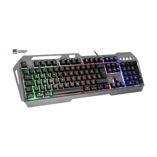 Picture of Tastatura SPEEDLINK LUNERA Metal Rainbow Keyboard, black - US layout SL-670006-BK-US
