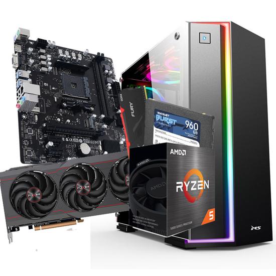 Picture of GNC GAMER Ryzen 5 5600X 3.7GHz,32MB, MB B550, DDR4 16GB 3200MHz Hyperx Fury, SSD 2,5 960GB, RX6800 GAMING OC 16GB GDDR6, METROPOLIS PRO gaming kućište