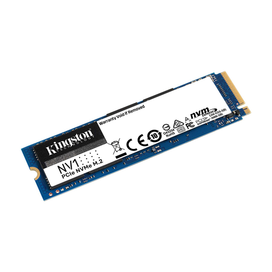Picture of Kingston SSD 500GB M.2 2280 NVMe PCIe SNVS/500G PCIe Gen 3.0x4 2,100/1,700MB/s,